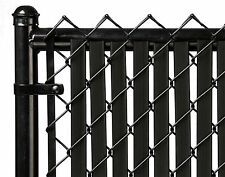 Chain Link Black Double Wall Tube™ Privacy Slat For 3ft High Fence Bottom Lock