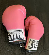 1 Pair -Title Boxing Authentic Detailed Mini Lace Up Glove Keychains