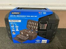Hart 160-Piece 1/4 3/8-In Mechanics Tool Socket Set Chrome Finish SAE & MM NEW