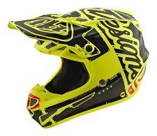 2018 Troy Lee Designs TLD SE4 MIPS Poly Motocross Helmet Factory Yellow XL