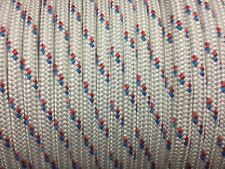 "1/2"" polyester double braid rope 600'  Blue red white"