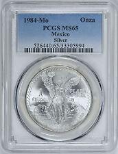 Mexico 1984 Mo Silver PCGS MS65 1 Onza Libertad Mexican Bullion Coin