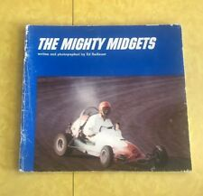 THE MIGHTY MIDGETS RACING  Ed Radlauer Vintage Softcover 1971 Car Book Kids DIRT
