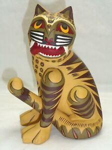 Vtg Wood Horangi Idiot Tiger Korean Folklore Sculpture Of Minhwa Folk Art