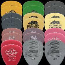 24 Dunlop Medium Guitar Picks Variedad-Tortex, Nylon, Ulex, Gator, Delrin, Max