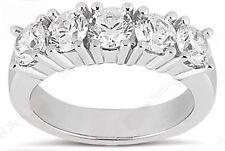 5 Stone Round Diamond Wedding Ring Anniversary Band 1.24 carat G color Si1
