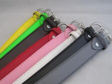 LADIES BELTS  NEON COLORS ALL SIZES LEATHER NEW RED PINK WHITE GREY GIFT IDEA