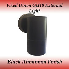 1 Light Fixed Down IP65 GU10 External Wall Light in Black
