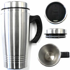 16OZ Double Wall Stainless Steel Coffee Cup w/Handle Thermos Travel Mug Tumbler