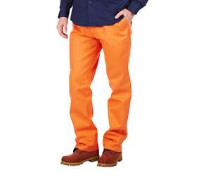 Men's Safety Orange Work Pants - 117S - HARD YAKKA Foundations