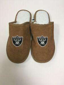 Oakland Raiders Men's Team Color Moccasin Slide Slippers