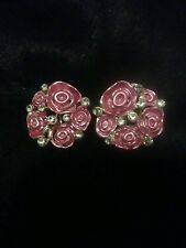 Fashion Silver Earrings with flower & Crystal Detail