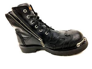 Harley Davidson Black Men's  Hiker Biker Boots Size USA 10.5 /UK.9.5/ EU. 43.5