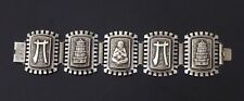Ancien bracelet argent Chine Vietnam indochine Old chinese silver pagoda 1900