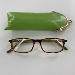 Kate Spade NY Jodie Reading Glasses +1.00 Turtle Shell & Green HG10 50-16 + Case