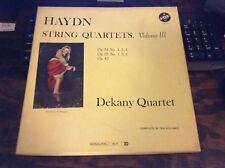 HAYDN - String Quartets, Vol. III  - 3pc Box Set VOX  LP- Exc Cond