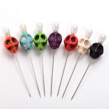 Skull Head Pattern Pins For Evil Voodoo Curse Needles Voodoo Doll Accessory