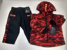 Nike, Boys, 12 Months, Futura Tricot Jacket Pants Set, Black/Red