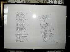 "TIM WHEELER Ash Signed ""Girl From Mars"" Limited Edition Lyrics Print 34/75"