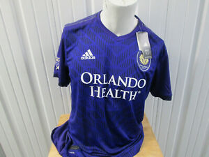 ADIDAS MLS AUTHENTIC Orlando City SC LIONS XL SEWN PURPLE JERSEY 2019 KIT NWT