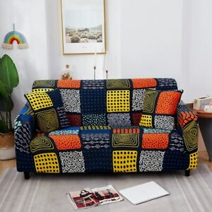 Floral Printed Sofa Protector Covers For Living Room Elastic Stretch Slipcover