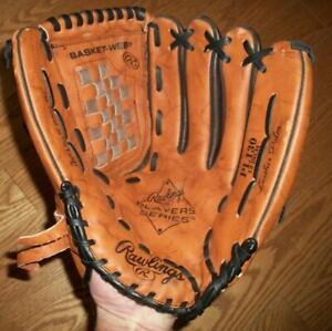"USED RAWLINGS PL130 13"" LEATHER SOFTBALL / BASEBALL GLOVE - Right handed thrower"