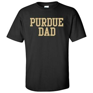 Purdue Boilermakers Basic Block Dad T-Shirt - Black