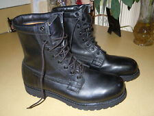 VINTAGE 1999 BLACK LEATHER INSULATED STEEL TOE MILITARY COMBAT BOOTS - CLEAN 9 R