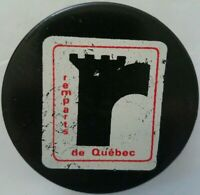 Quebec Remparts VINTAGE OFFICIAL HOCKEY PUCK MADE IN CZECHOSLOVAKIA