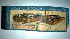 "RARE OLD Vintage ""OHIO MATCH CO."". matchbook.MADE IN USA"