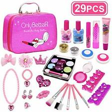 Kids Makeup Set Kids Washable Makeup Real Cosmetic Kit for Girls Role Play Toys
