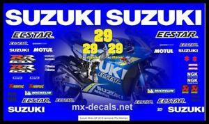 Suzuki Moto Gp 2018 Iannone The Maniac decal set