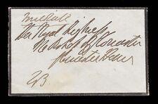 1st Duke of Wellington to the Duchess of Gloucester Cover Handwritten & Endorsed