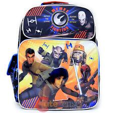 "Star Wars 7 Large School Backpack 16"" Boys Book Bag Rebel Fighters"
