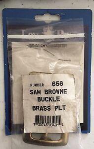"NIP Law Pro Buckle Sam Browne Brass Plt #656 Quartermaster 3"""