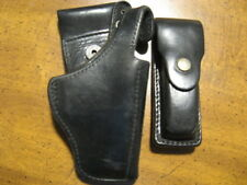 CZ82 leather mag pouch Czech Republic Police duty holster and original pouch.CZ