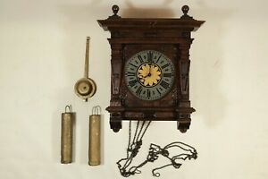 Uralte Wanduhr Holz Uhrwerk LFS Lorenz Furtwängler Söhne / Regulator