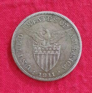 Philippine Coin P1 One Peso 1911 VF Silver