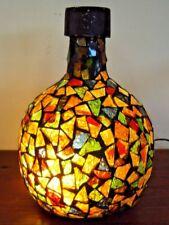 Très joli gros pied de lampe en mosaïque de verre