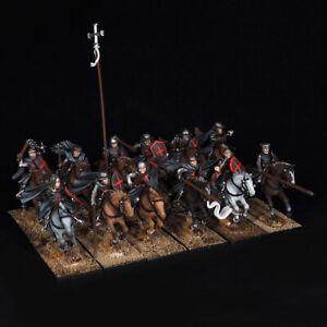 1/56 28mm painted FireForge Games, Knights Hospitaller Mounted Sergeants