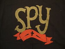 Spy Brand Logo Flag Thick Black T Shirt L
