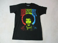 Jimi Hendrix Concert Shirt Adult Medium Black Yellow Rock Tour Music Band Mens