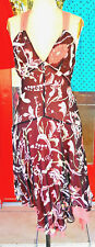 Esprit Collection Floral print Silk party dress - Size 8