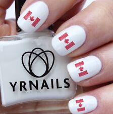 Nail WRAPS Nail Art Water Transfers Decals - Scribble Canada Flag - S637