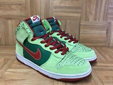 """RARE🔥 Nike Dunk High Pro SB """"Dr. Feelgood"""" Forest Varsity Red 11.5 305050-362"""