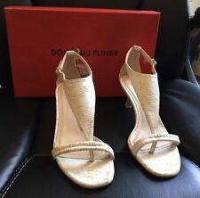 Donald J Pliner Monti Women Sz 6 White Matte Cork Dress Shoes NIB $218