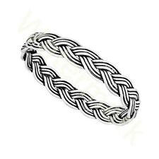 New 925 Sterling Silver Woven Plait Stacking Ring In   Sizes G-Z Wedding Thumb