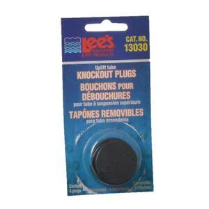 Lee's Knockout Plugs Uplift Tube Caps Black Replacement Aquarium Snap Cap UGF