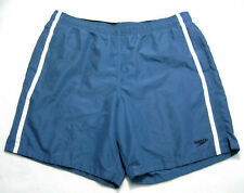 SPEEDO Mens Blue Swim Swimming Trunks Shorts (Size Large 38 40 42) Swimmwear
