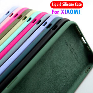 For Xiaomi Redmi Note 10 9 8 7 Pro 9T 8T 9A 9C 9 Liquid Silicone Soft Case Cover